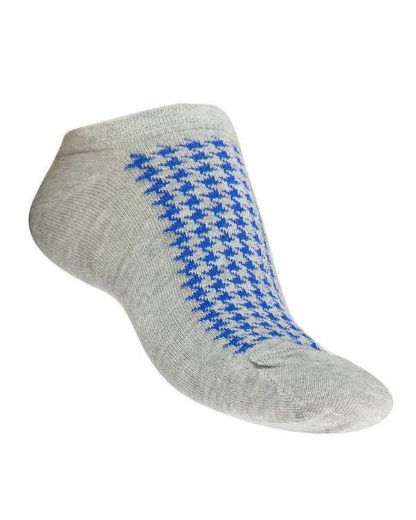 جوراب زنانه مچی طوسی آبی فرخ رخ
