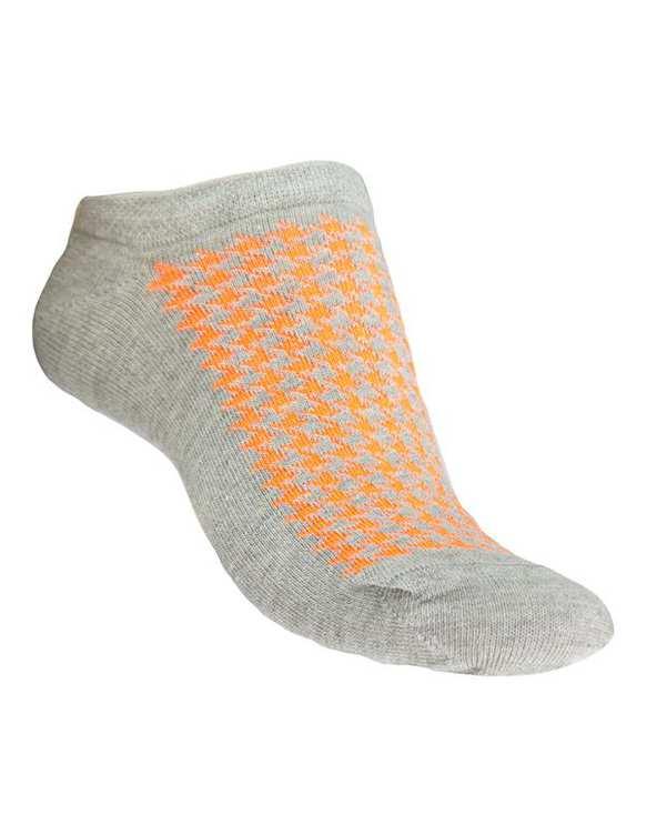 جوراب زنانه مچی طوسی نارنجی فرخ رخ
