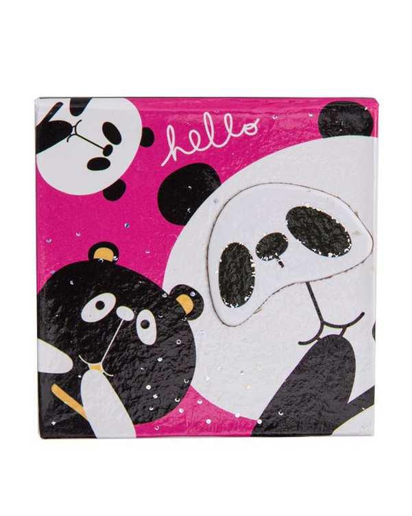 دفتر یادداشت فانتزی طرح گربه و خرس