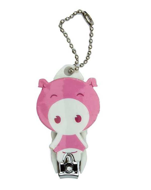 ناخن گیر عروسکی کودک طرح خوک صورتی