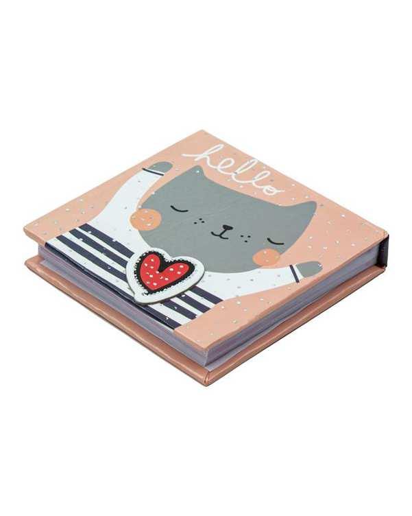 دفترچه یادداشت طرح گربه 8*8 سانتی