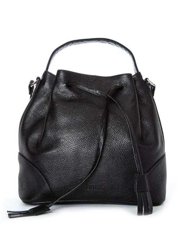 کیف چرم زنانه دوشی مشکی اورِز