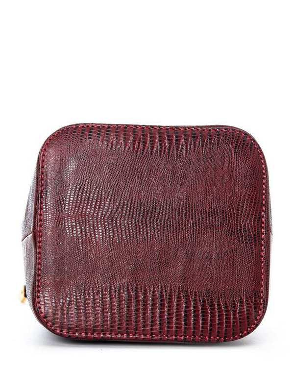 کیف چرم زنانه دوشی زرشکی مشکی اورِز