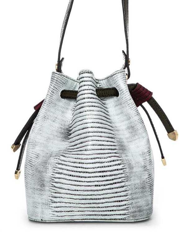 کیف چرم زنانه دوشی مشکی سفید اورِز