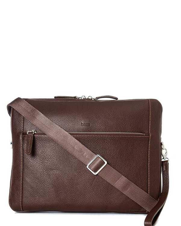 کیف چرم اداری قهوه ای اورِز