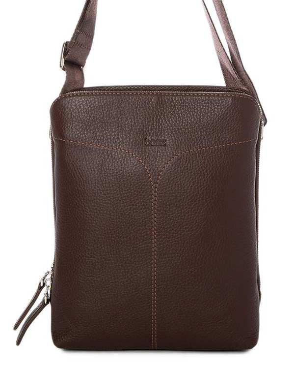 کیف چرم زنانه دوشی قهوه ای اورِز