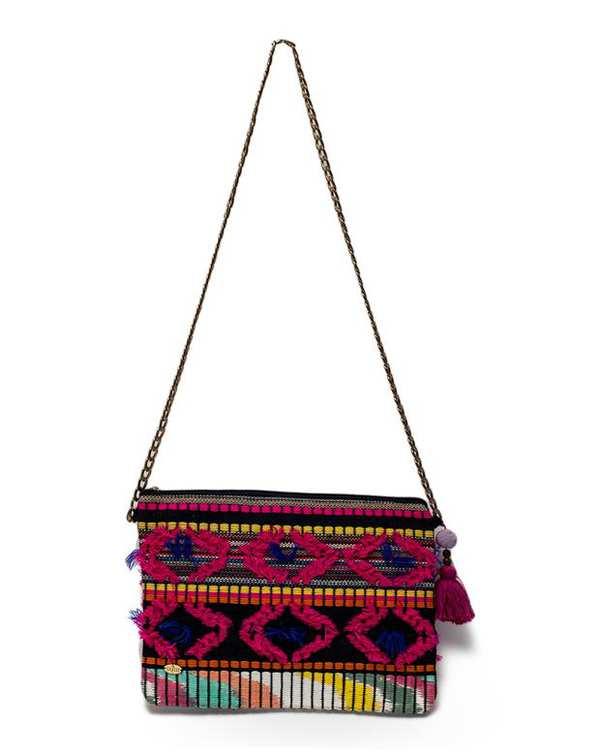 کیف زنانه دوشی دست ساز سرخابی واله