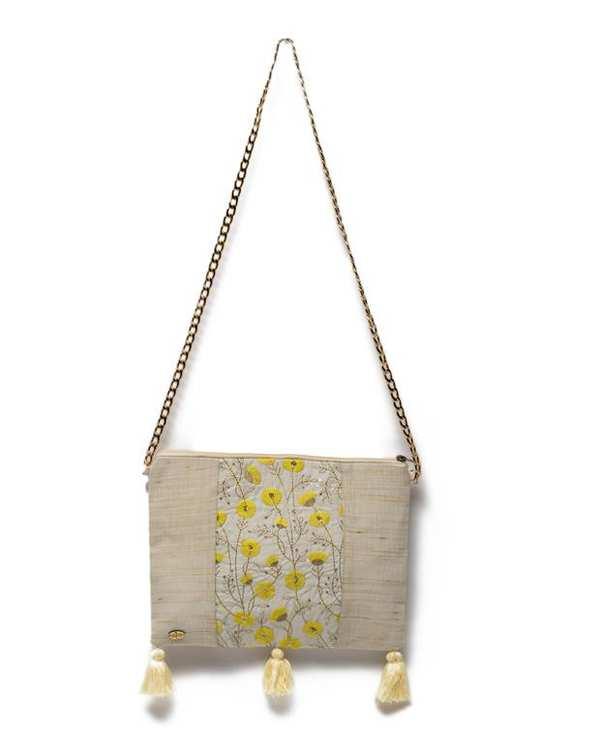 کیف زنانه دوشی دست ساز شیری واله