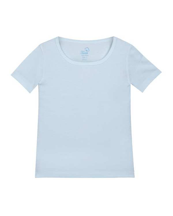 تی شرت پسرانه نخی آبی روشن تانیش