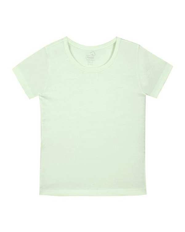 تی شرت پسرانه نخی سبز فیروزه ای روشن تانیش