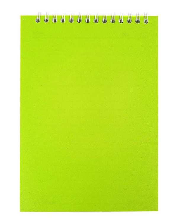 دفترچه یادداشت سیمی خط دار 60 برگ مدل الماس سبز