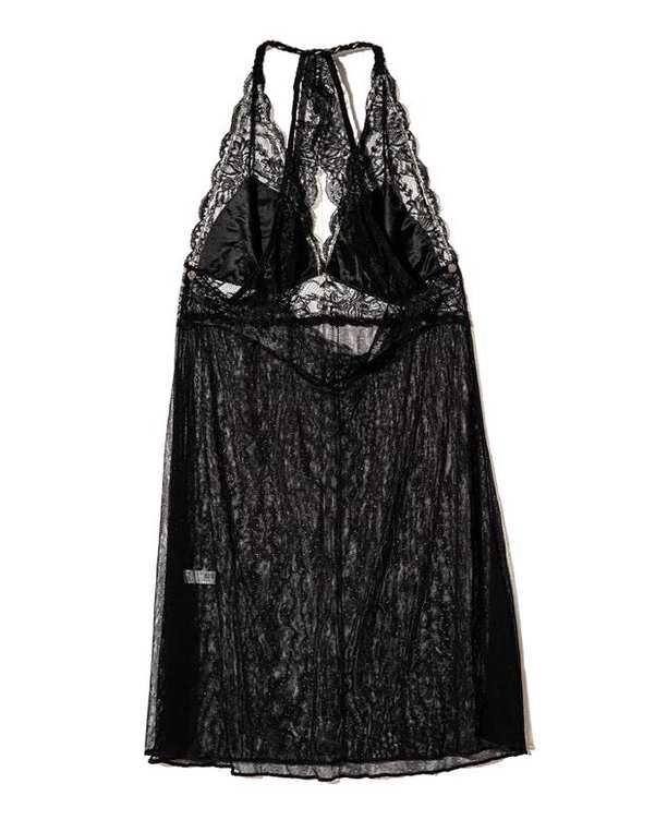 لباس خواب زنانه توری مشکی 5135 ینینچی