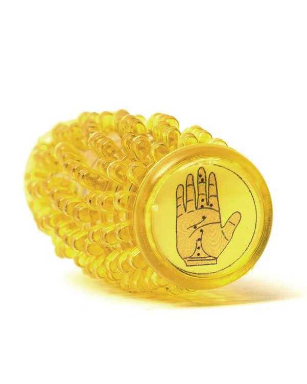 ماساژور کف دست زرد تن زیب
