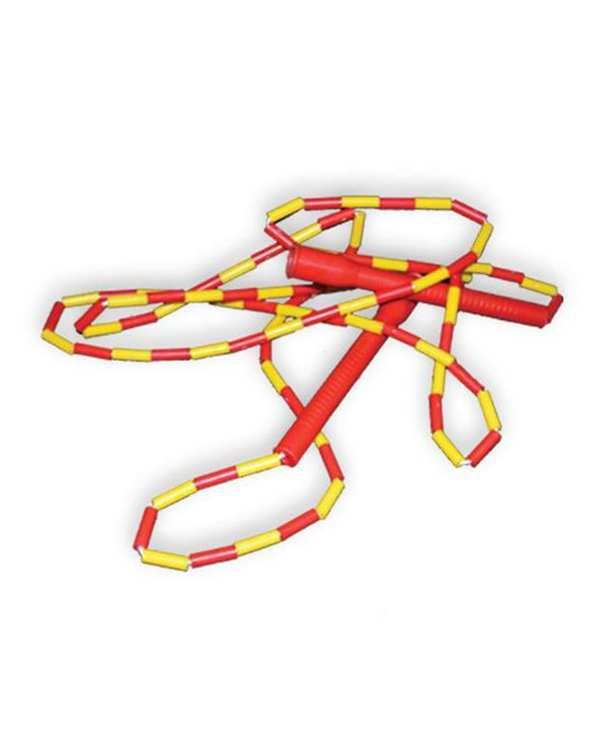 طناب جادویی دسته بلند قرمز زرد تن زیب
