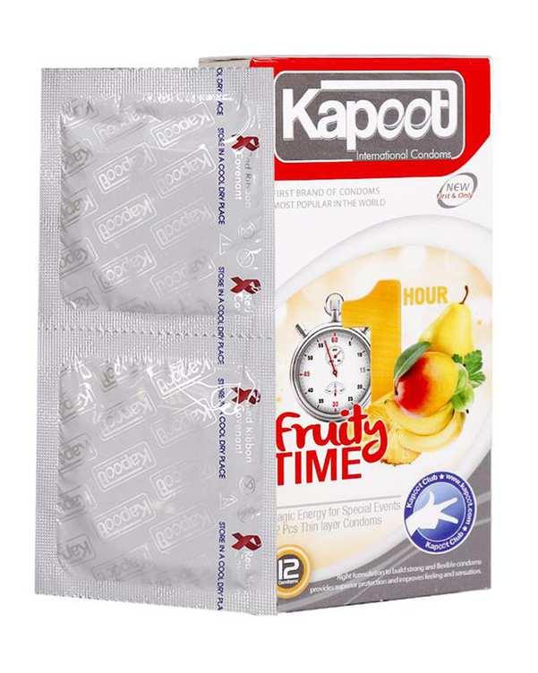 کاندوم مدل Hot Time کاپوت بسته 12 عددی