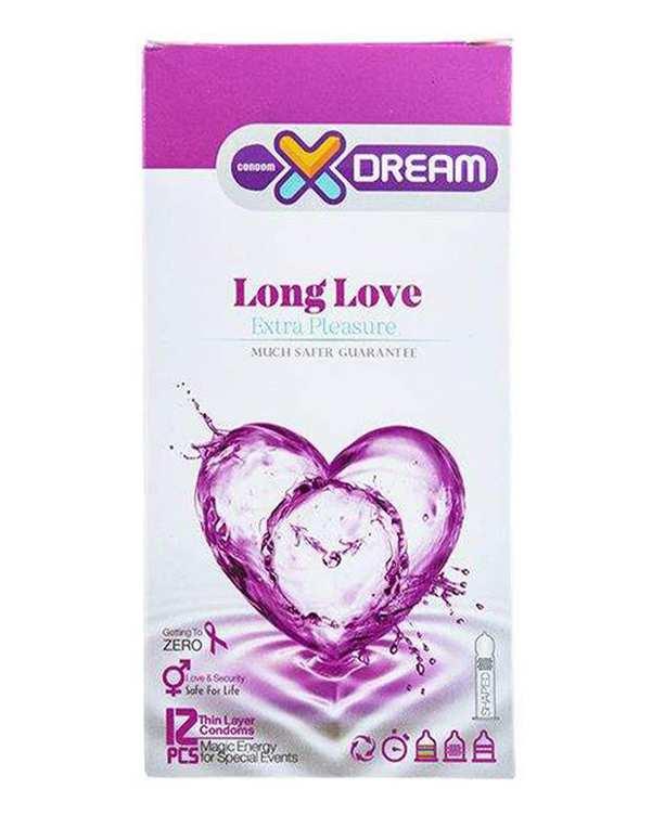 کاندوم مدل Long Love ایکس دریم بسته 12 عددی
