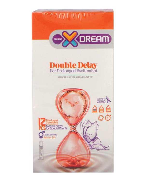 کاندوم مدل Double Delay ایکس دریم بسته 12 عددی