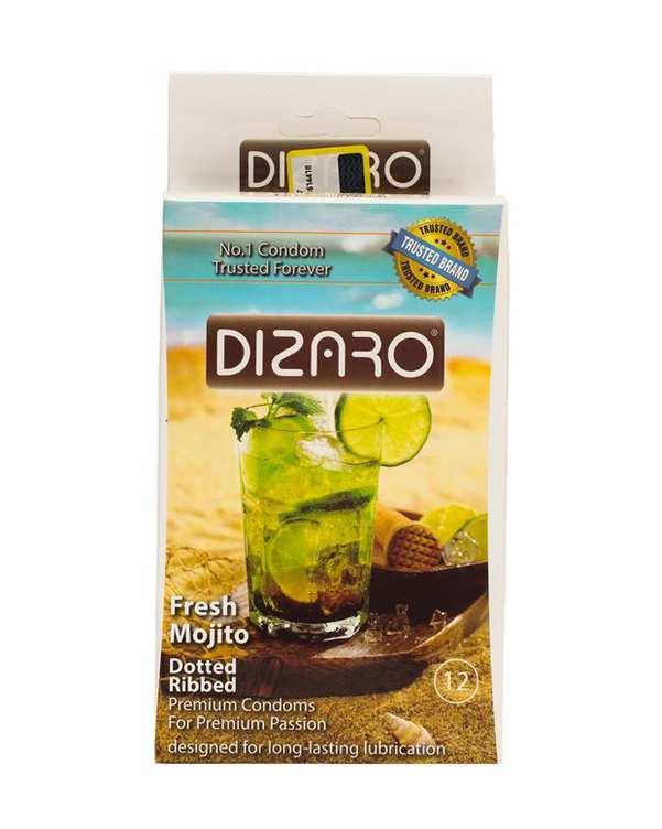بسته 12 عددی کاندوم مدل Mojito دیزارو