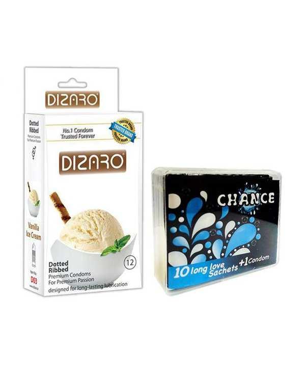 بسته 12 عددی کاندوم مدل Vanilla Ice cream دیزارو