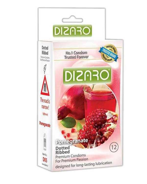 بسته 12 عددی کاندوم مدل Pomegranate دیزارو