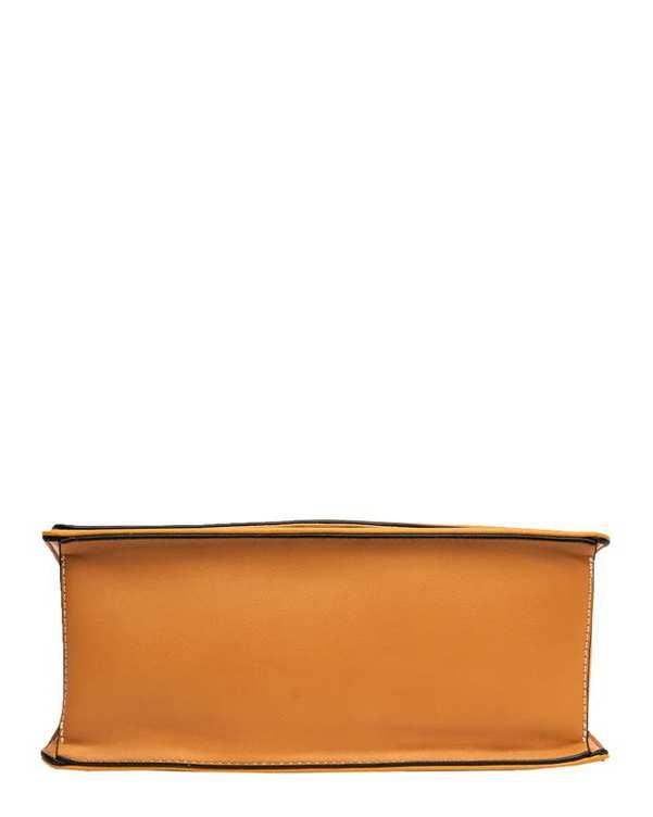کیف زنانه دستی خردلی David Jones
