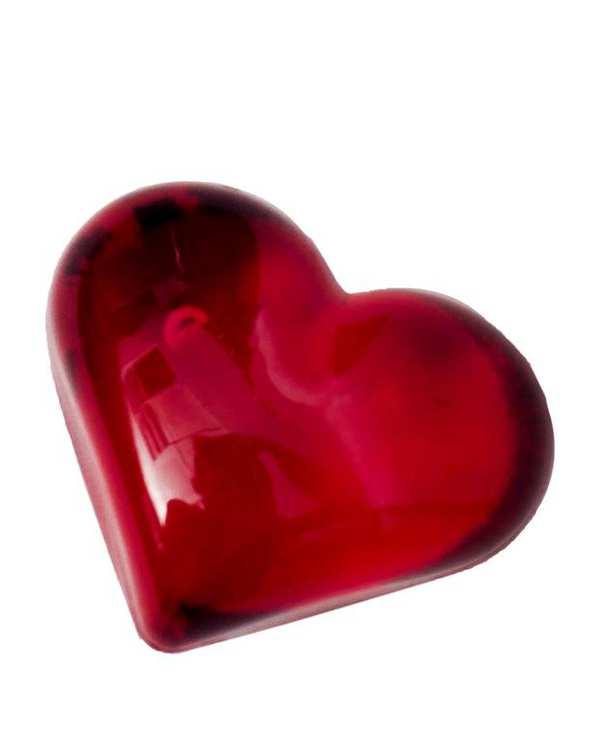 قلب قرمز کریستالی کوچک