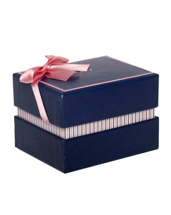 جعبه کادویی سرمه ای صورتی کوچک