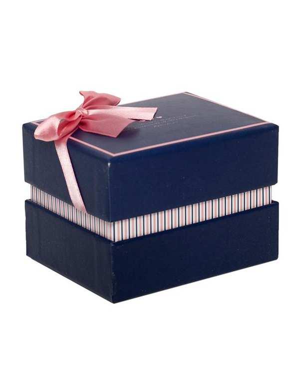 جعبه کادویی سرمه ای صورتی متوسط