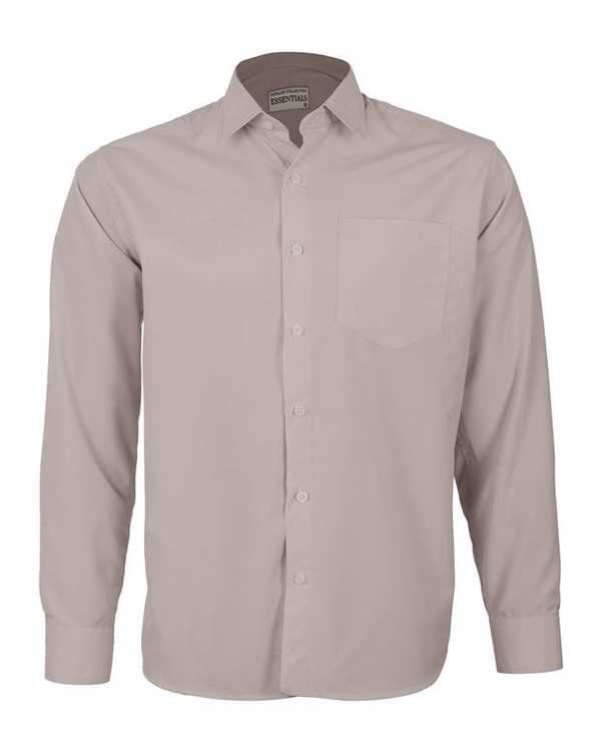 پیراهن مردانه مدل RegularFit-Tet-kh خاکی ناوالس