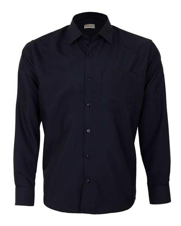 پیراهن مردانه مدل RegularFit-Tet-BK مشکی ناوالس