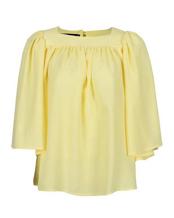 شومیز زنانه کد SS2020-SHIRT113-YL زرد ناوالس