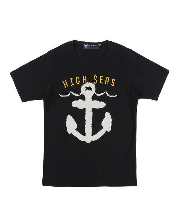 تی شرت بچگانه کد HighSea-02-bk مشکی ناوالس