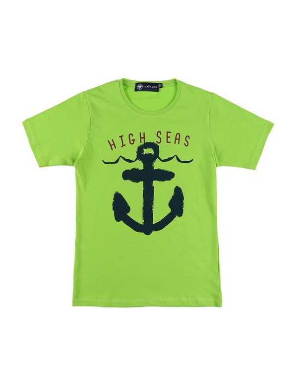 تی شرت بچگانه کد HighSea-02-GN سبز ناوالس