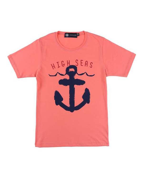 تی شرت بچگانه کد HighSeas-02-Dpk گلبهی ناوالس