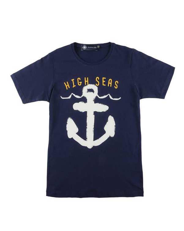 تی شرت بچگانه کد HighSea-02-NV سرمه ای ناوالس