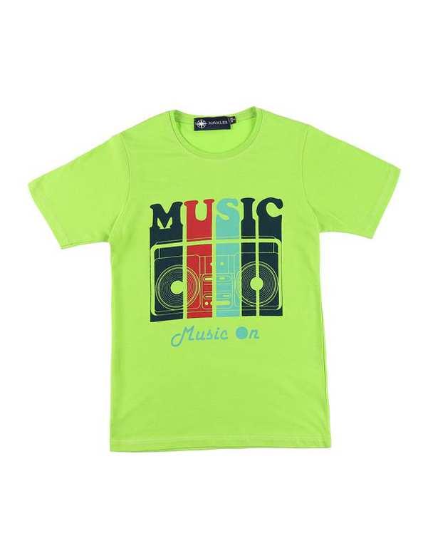 تی شرت بچگانه کد MUSIC-01-GN سبز ناوالس
