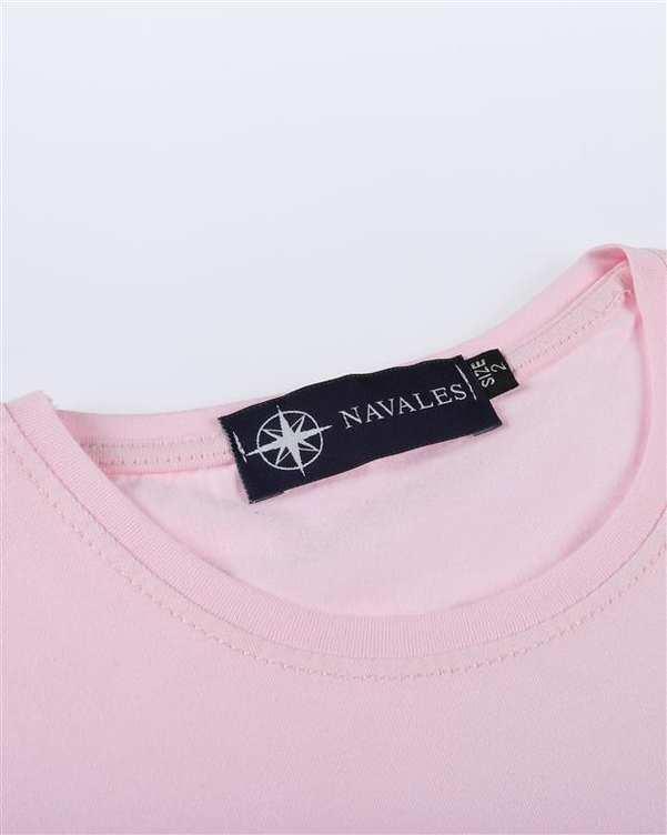 تی شرت بچگانه کد CREATE-02-PK صورتی ناوالس