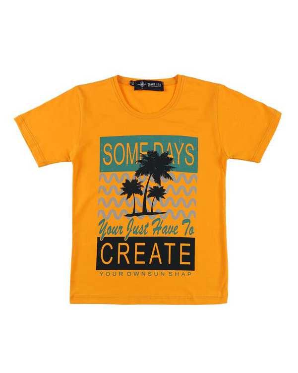 تی شرت بچگانه کد CREATE-02-ORG نارنجی ناوالس