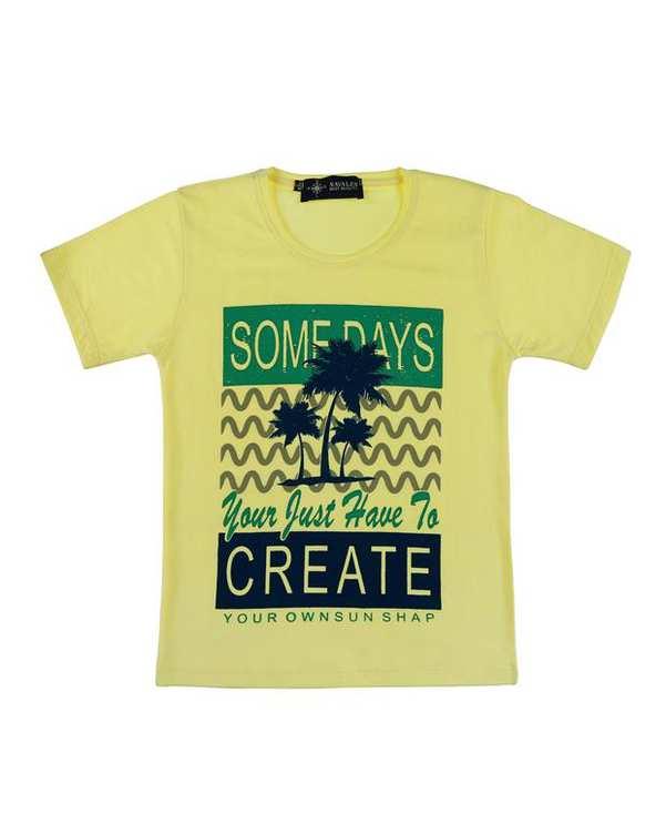 تی شرت بچگانه کد CREATE-02-LEM لیمویی ناوالس