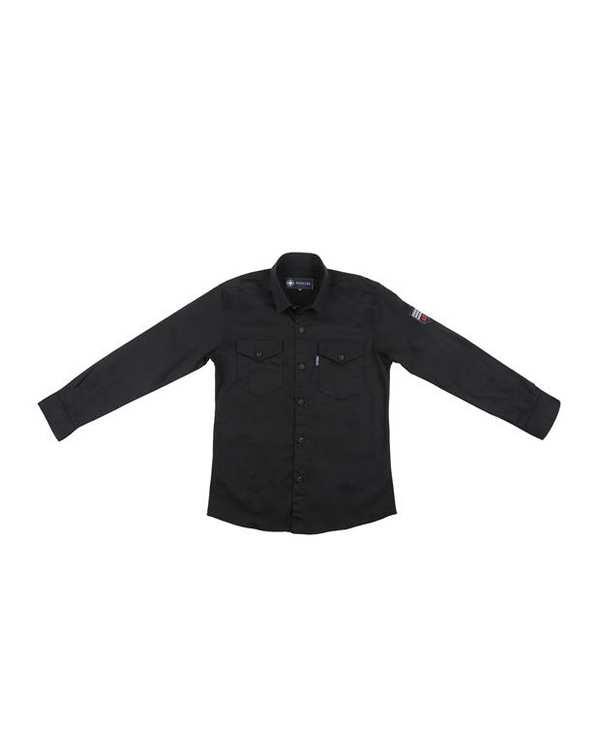 پیراهن پسرانه کد 20119-BK مشکی ناوالس
