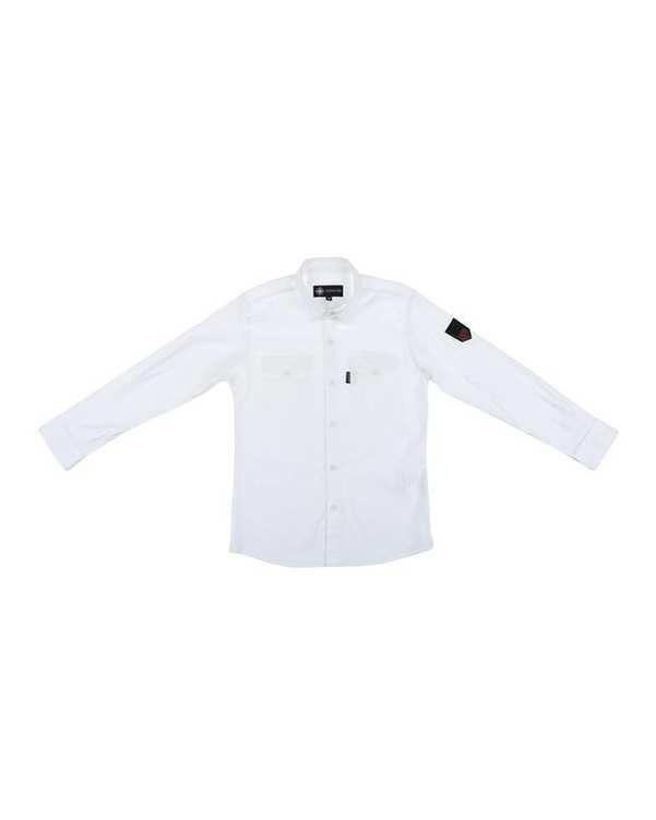 پیراهن پسرانه کد 20119-WH سفید ناوالس
