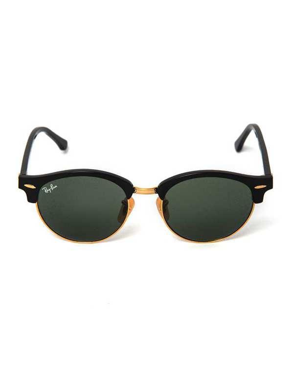 عینک آفتابی مشکی ClubRound RB4246 ری بن