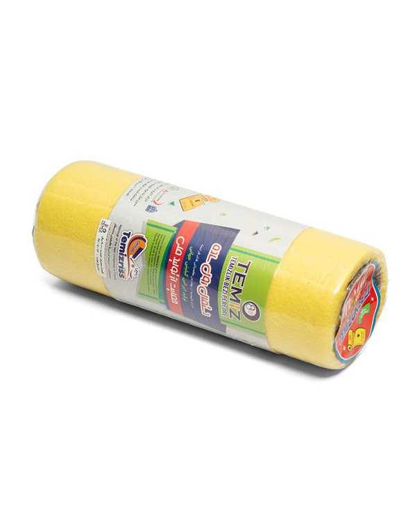دستمال رولی ساده زرد تمیز بسته 10 عددی