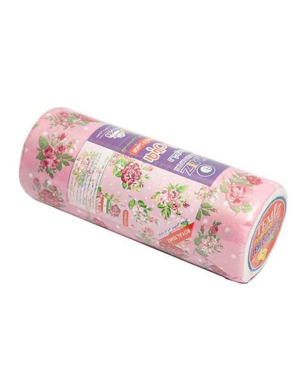 دستمال رولی گلدار تمیزبسته 20 عددی