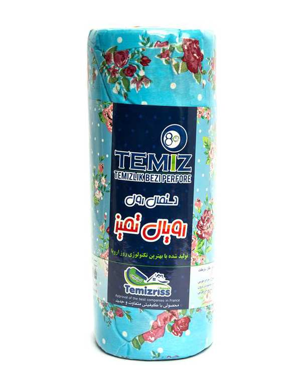 بسته 20 عددی دستمال رول رویال گل دار آبی قرمز تمیز