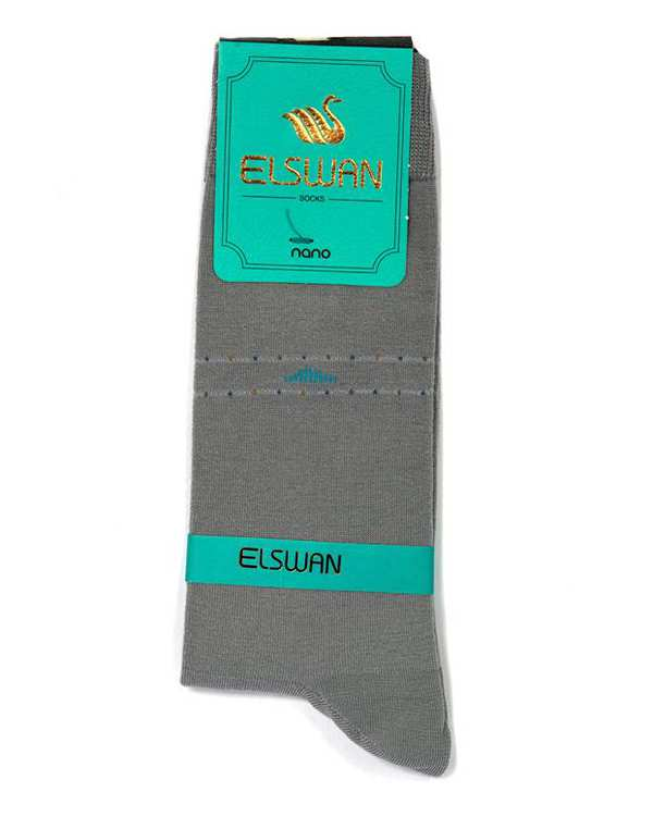 جوراب مردانه ساق دار طوسی السوان