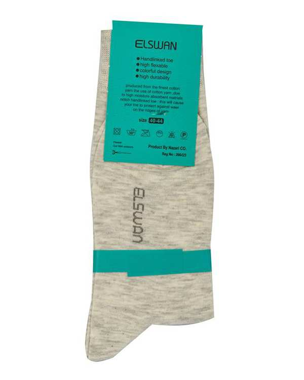 جوراب مردانه ساق دار طوسی روشن السوان