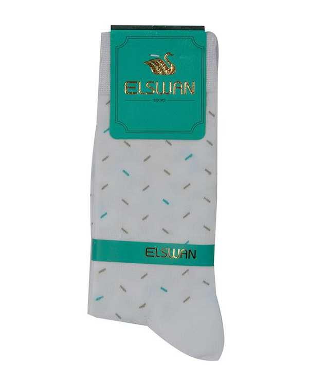 جوراب مردانه ساق دار سفید السوان