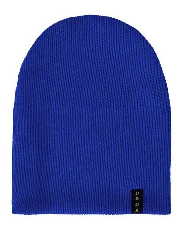 کلاه بافت آبی کاربنی پپا