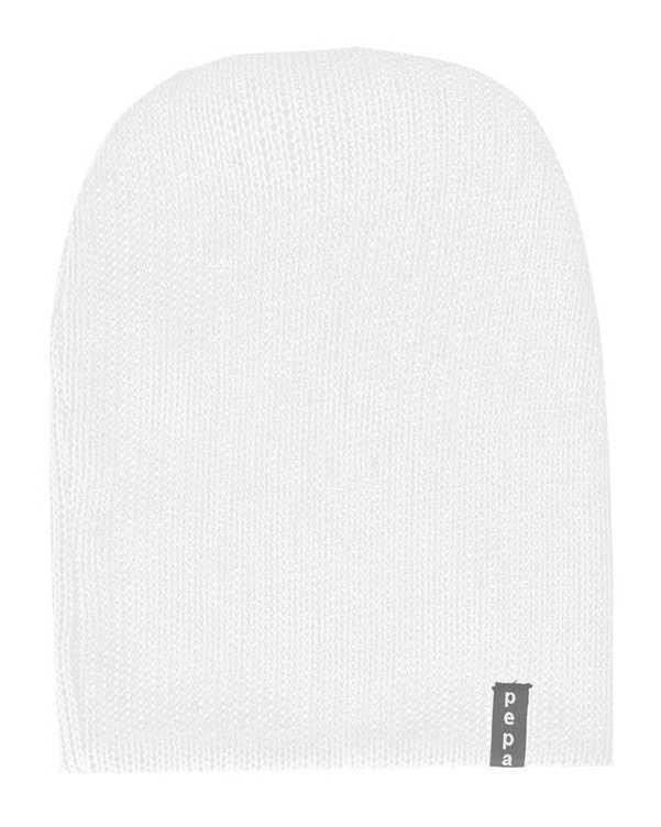 کلاه بافت سفید پپا